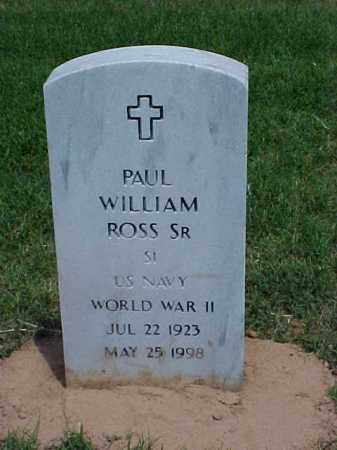 ROSS, SR (VETERAN WWII), PAUL WILLIAM - Pulaski County, Arkansas | PAUL WILLIAM ROSS, SR (VETERAN WWII) - Arkansas Gravestone Photos