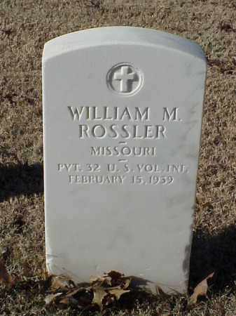 ROSSLER (VETERAN SAW), WILLIAM M - Pulaski County, Arkansas | WILLIAM M ROSSLER (VETERAN SAW) - Arkansas Gravestone Photos