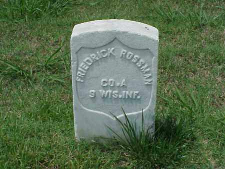ROSSMAN (VETERAN UNION), FREDRICK - Pulaski County, Arkansas | FREDRICK ROSSMAN (VETERAN UNION) - Arkansas Gravestone Photos