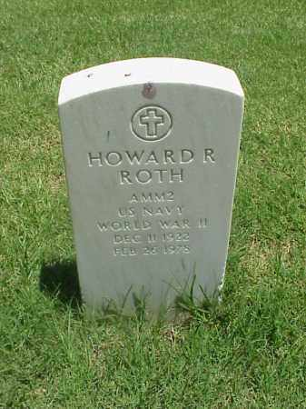 ROTH (VETERAN WWII), HOWARD R - Pulaski County, Arkansas | HOWARD R ROTH (VETERAN WWII) - Arkansas Gravestone Photos