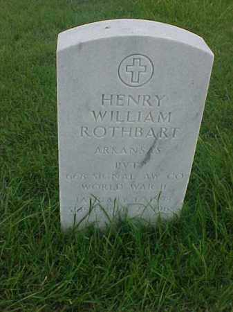 ROTHBART (VETERAN WWII), HENRY WILLIAM - Pulaski County, Arkansas | HENRY WILLIAM ROTHBART (VETERAN WWII) - Arkansas Gravestone Photos