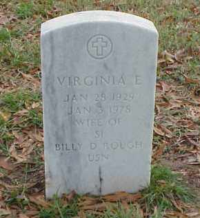 ROUGH, VIRGINIA E - Pulaski County, Arkansas | VIRGINIA E ROUGH - Arkansas Gravestone Photos