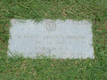 ROUGH (VETERAN WWII), BLANCHE LAVENIA - Pulaski County, Arkansas | BLANCHE LAVENIA ROUGH (VETERAN WWII) - Arkansas Gravestone Photos
