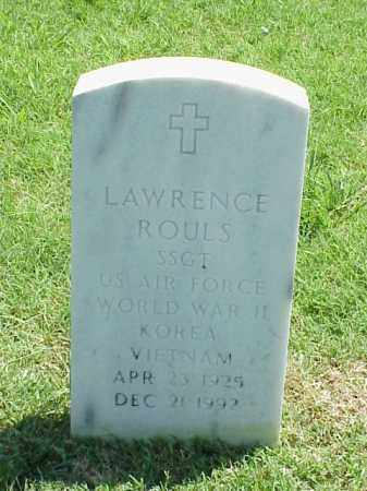 ROULS (VETERAN 3 WARS), LAWRENCE - Pulaski County, Arkansas | LAWRENCE ROULS (VETERAN 3 WARS) - Arkansas Gravestone Photos
