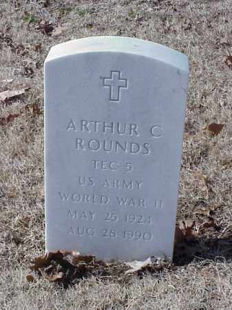 ROUNDS (VETERAN WWII), ARTHUR C - Pulaski County, Arkansas | ARTHUR C ROUNDS (VETERAN WWII) - Arkansas Gravestone Photos