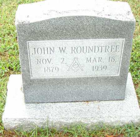 ROUNDTREE, JOHN W. - Pulaski County, Arkansas | JOHN W. ROUNDTREE - Arkansas Gravestone Photos
