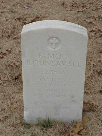 ROUNSAVALL (VETERAN WWII), ELMO F - Pulaski County, Arkansas | ELMO F ROUNSAVALL (VETERAN WWII) - Arkansas Gravestone Photos