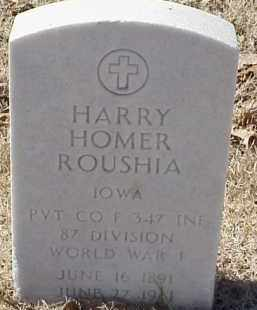 ROUSHIA  (VETERAN WWI), HARRY HOMER - Pulaski County, Arkansas | HARRY HOMER ROUSHIA  (VETERAN WWI) - Arkansas Gravestone Photos