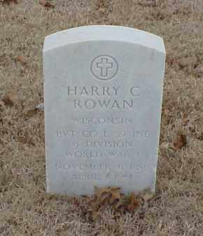 ROWAN  (VETERAN WWI), HARRY C - Pulaski County, Arkansas | HARRY C ROWAN  (VETERAN WWI) - Arkansas Gravestone Photos