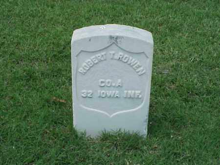 ROWEN (VETERAN UNION), ROBERT T - Pulaski County, Arkansas | ROBERT T ROWEN (VETERAN UNION) - Arkansas Gravestone Photos