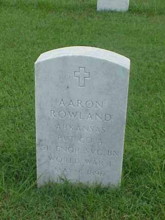 ROWLAND (VETERAN WWI), AARON - Pulaski County, Arkansas | AARON ROWLAND (VETERAN WWI) - Arkansas Gravestone Photos
