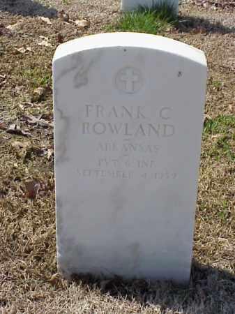 ROWLAND (VETERAN WWI), FRANK C - Pulaski County, Arkansas | FRANK C ROWLAND (VETERAN WWI) - Arkansas Gravestone Photos