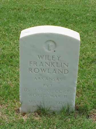 ROWLAND (VETERAN WWII), WILEY FRANKLIN - Pulaski County, Arkansas | WILEY FRANKLIN ROWLAND (VETERAN WWII) - Arkansas Gravestone Photos