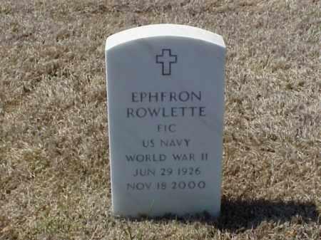 ROWLETTE (VETERAN WWII), EPHFRON - Pulaski County, Arkansas | EPHFRON ROWLETTE (VETERAN WWII) - Arkansas Gravestone Photos