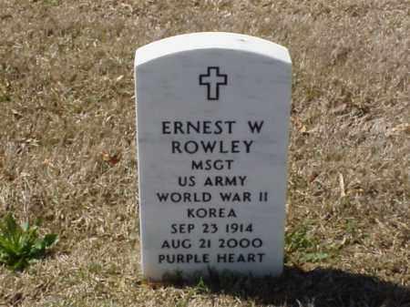 ROWLEY  (VETERAN 2 WARS), ERNEST W - Pulaski County, Arkansas | ERNEST W ROWLEY  (VETERAN 2 WARS) - Arkansas Gravestone Photos