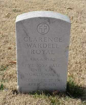 ROYAL (VETERAN WWII), CLARENCE WARDELL - Pulaski County, Arkansas | CLARENCE WARDELL ROYAL (VETERAN WWII) - Arkansas Gravestone Photos