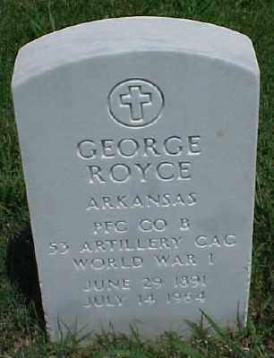 ROYCE (VETERAN WWI), GEORGE - Pulaski County, Arkansas | GEORGE ROYCE (VETERAN WWI) - Arkansas Gravestone Photos