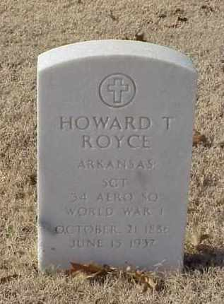 ROYCE (VETERAN WWI), HOWARD T) - Pulaski County, Arkansas | HOWARD T) ROYCE (VETERAN WWI) - Arkansas Gravestone Photos