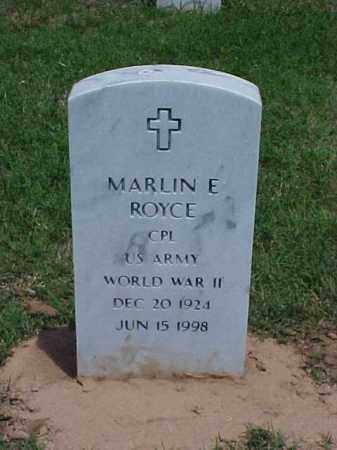 ROYCE (VETERAN WWII), MARLIN E - Pulaski County, Arkansas | MARLIN E ROYCE (VETERAN WWII) - Arkansas Gravestone Photos