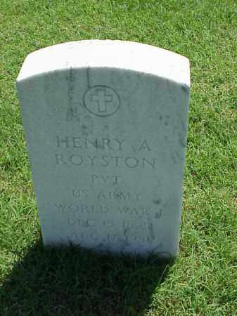 ROYSTON (VETERAN WWI), HENRY A - Pulaski County, Arkansas | HENRY A ROYSTON (VETERAN WWI) - Arkansas Gravestone Photos