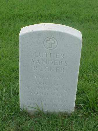 RUCKER (VETERAN WWI), LUTHER SANDERS - Pulaski County, Arkansas | LUTHER SANDERS RUCKER (VETERAN WWI) - Arkansas Gravestone Photos
