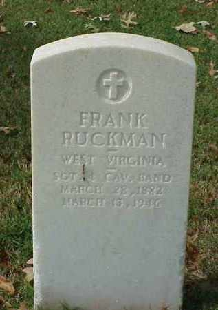 RUCKMAN (VETERAN WWI), FRANK - Pulaski County, Arkansas | FRANK RUCKMAN (VETERAN WWI) - Arkansas Gravestone Photos