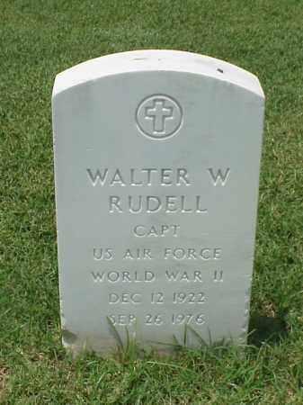 RUDELL (VETERAN WWII), WALTER W - Pulaski County, Arkansas | WALTER W RUDELL (VETERAN WWII) - Arkansas Gravestone Photos