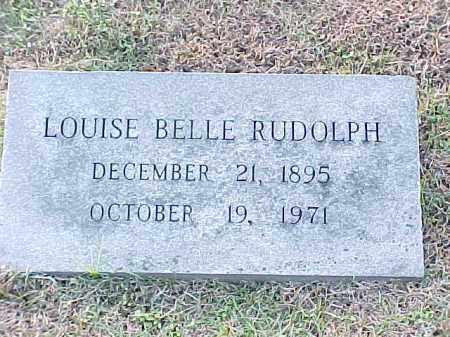 RUDOLPH, LOUISE BELLE - Pulaski County, Arkansas | LOUISE BELLE RUDOLPH - Arkansas Gravestone Photos