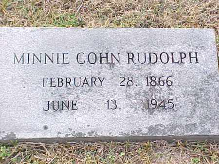 RUDOLPH, MINNIE COHN - Pulaski County, Arkansas | MINNIE COHN RUDOLPH - Arkansas Gravestone Photos