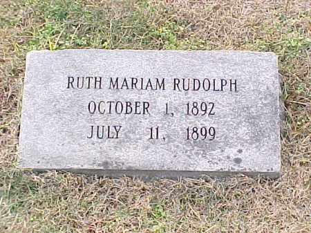 RUDOLPH, RUTH MARIAM - Pulaski County, Arkansas | RUTH MARIAM RUDOLPH - Arkansas Gravestone Photos