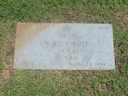 RUFF (VETERAN VIET), URIAL E - Pulaski County, Arkansas   URIAL E RUFF (VETERAN VIET) - Arkansas Gravestone Photos