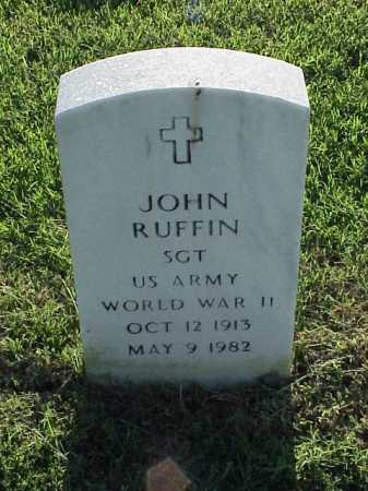 RUFFIN (VETERAN WWII), JOHN - Pulaski County, Arkansas | JOHN RUFFIN (VETERAN WWII) - Arkansas Gravestone Photos