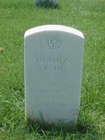 RUHL (VETERAN WWII), HERMON - Pulaski County, Arkansas | HERMON RUHL (VETERAN WWII) - Arkansas Gravestone Photos