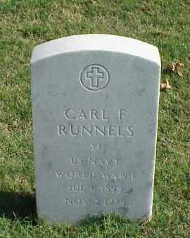 RUNNELS (VETERAN WWI), CARL F - Pulaski County, Arkansas | CARL F RUNNELS (VETERAN WWI) - Arkansas Gravestone Photos