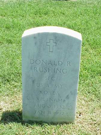 RUSHING (VETERAN 2 WARS), DONALD R - Pulaski County, Arkansas | DONALD R RUSHING (VETERAN 2 WARS) - Arkansas Gravestone Photos