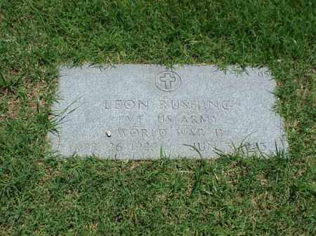 RUSHING (VETERAN WWII), LEON - Pulaski County, Arkansas | LEON RUSHING (VETERAN WWII) - Arkansas Gravestone Photos