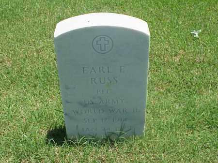 RUSS (VETERAN WWII), EARL E - Pulaski County, Arkansas | EARL E RUSS (VETERAN WWII) - Arkansas Gravestone Photos
