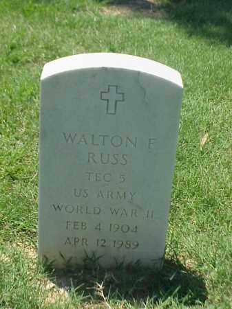 RUSS (VETERAN WWII), WALTON F - Pulaski County, Arkansas | WALTON F RUSS (VETERAN WWII) - Arkansas Gravestone Photos