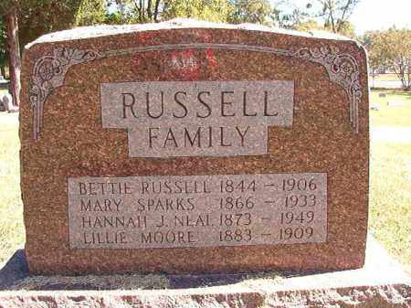 RUSSELL, BETTIE - Pulaski County, Arkansas | BETTIE RUSSELL - Arkansas Gravestone Photos