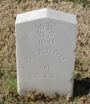 RUSSELL (VETERAN CSA), S J - Pulaski County, Arkansas   S J RUSSELL (VETERAN CSA) - Arkansas Gravestone Photos