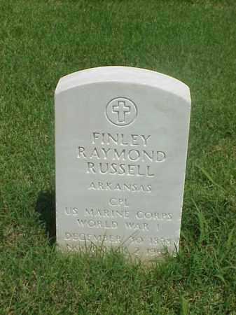 RUSSELL (VETERAN WWI), FINLEY RAYMOND - Pulaski County, Arkansas | FINLEY RAYMOND RUSSELL (VETERAN WWI) - Arkansas Gravestone Photos