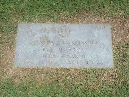 RUSSELL (VETERAN WWII), CONRAD G - Pulaski County, Arkansas | CONRAD G RUSSELL (VETERAN WWII) - Arkansas Gravestone Photos