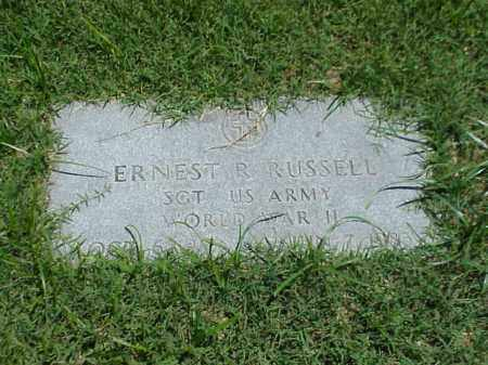 RUSSELL (VETERAN WWII), ERNEST R - Pulaski County, Arkansas | ERNEST R RUSSELL (VETERAN WWII) - Arkansas Gravestone Photos