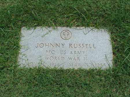 RUSSELL (VETERAN WWII), JOHNNY - Pulaski County, Arkansas | JOHNNY RUSSELL (VETERAN WWII) - Arkansas Gravestone Photos