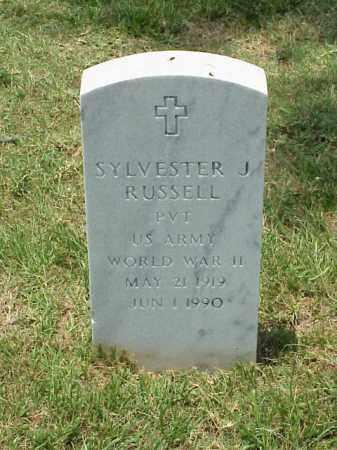 RUSSELL (VETERAN WWII), SYLVESTER J - Pulaski County, Arkansas | SYLVESTER J RUSSELL (VETERAN WWII) - Arkansas Gravestone Photos