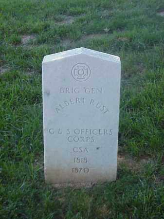 RUST (VETERAN CSA)(FAMOUS), ALBERT - Pulaski County, Arkansas | ALBERT RUST (VETERAN CSA)(FAMOUS) - Arkansas Gravestone Photos