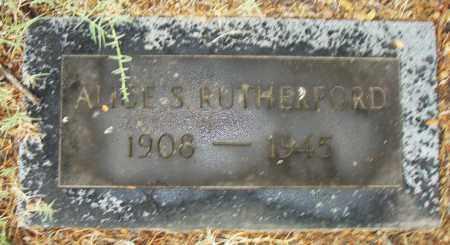 RUTHERFORD, ALICE S. - Pulaski County, Arkansas | ALICE S. RUTHERFORD - Arkansas Gravestone Photos