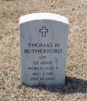 RUTHERFORD (VETERAN WWII), THOMAS H - Pulaski County, Arkansas | THOMAS H RUTHERFORD (VETERAN WWII) - Arkansas Gravestone Photos
