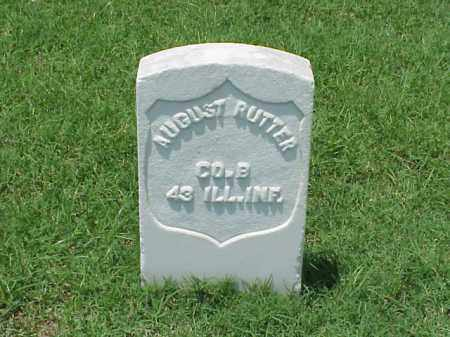 RUTTER (VETERAN UNION), AUGUST - Pulaski County, Arkansas | AUGUST RUTTER (VETERAN UNION) - Arkansas Gravestone Photos