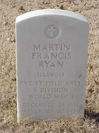 RYAN (VETERAN WWI), MARTIN FRANCIS - Pulaski County, Arkansas | MARTIN FRANCIS RYAN (VETERAN WWI) - Arkansas Gravestone Photos